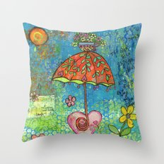 The Sun Also Shines Throw Pillow