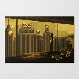 Oilman illustration 01 Canvas Print
