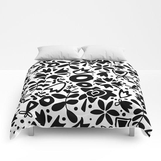 graphic garden Comforters