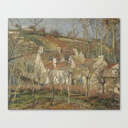Red Roofs, Corner of a Village, Winter Les toits rouges, coin de village, effet d'hiver Camille Piss Canvas Print