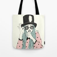 hat Tote Bags featuring  ''Hat'' by Indi Maverick