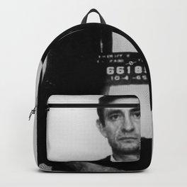 Johnny Cash Mug Shot Country Music Backpack