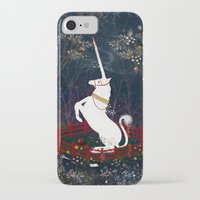 unicorn iPhone & iPod Cases featuring Unicorn by Danse de Lune