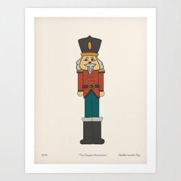 the Elegant Nutcracker Art Print