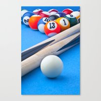 gaming Canvas Prints featuring Gaming Table by Valerie Paterson