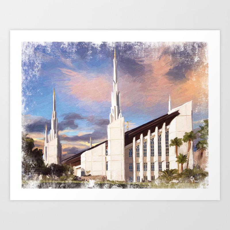 Las Vegas Nevada Lds Temple Art Print By Brentknudson Society6