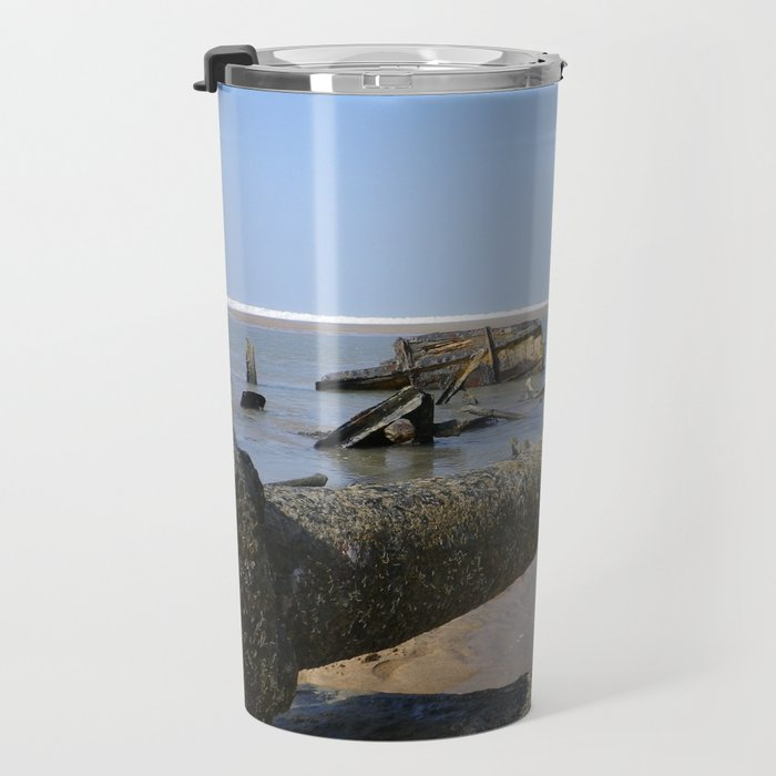 STEAMSHIP BELEM 1917 SHIPWRECK PROPELLER SHAFT CORNWALL Travel Mug