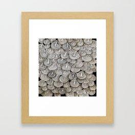 Flying Popcorns Framed Art Print