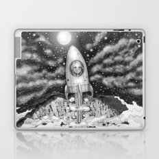 Running Away From Home In A Rocket Ship Laptop & iPad Skin