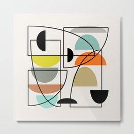 "Mid Century Modern ""Bowls"" Metal Print"