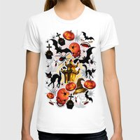 saga T-shirts featuring Halloween Spooky Cartoon Saga by BluedarkArt