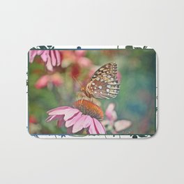 Butterfly on Echinacea Bath Mat