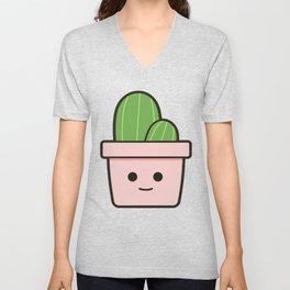 Happy Cactus 21.1 Unisex V-Neck