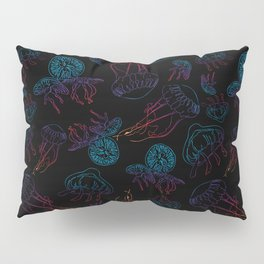 Rainbow Jellies Pillow Sham