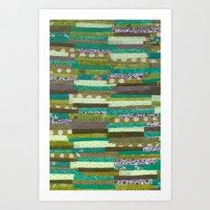 green quilt Art Print