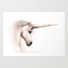 Unicorn Melancholy Art Print