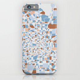 Houston City Map Art iPhone Case