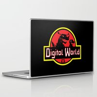 digimon Laptop & iPad Skins featuring Digital World  by Jelly Soup Studios