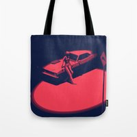 picard Tote Bags featuring Peachy by Anton Marrast