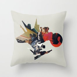 The Other Side of Shattered Glass Throw Pillow