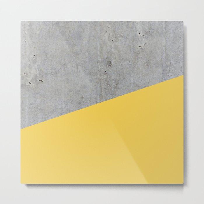 Concrete and primrose yellow color Metal Print