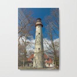 Gross Point Lighthouse Evanston Illinois Lake Michigan Metal Print