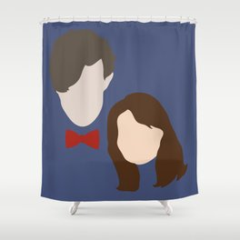 The Eleventh Doctor and the lovely Clara Oswin Oswald Shower Curtain