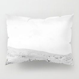 Deep Powder Trees // Black and White Landscape in the Rockies Pillow Sham