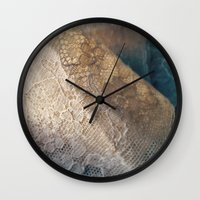lace Wall Clocks featuring lace by messy bed studio
