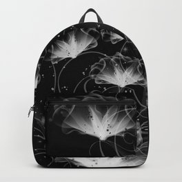 Morning Glory in black and white. Backpack