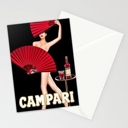 Vintage Bitter Campari Lithograph Advertisement Stationery Cards