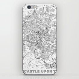Newcastle upon Tyne Map Line iPhone Skin