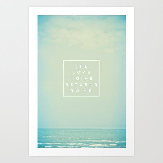 The Love I Give II Art Print