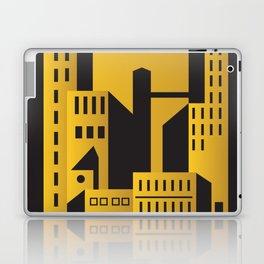 Golden city art deco Laptop & iPad Skin
