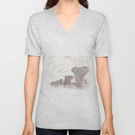 Elephant Patrol Unisex V-Neck