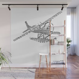 Flying Floating Lines Wall Mural