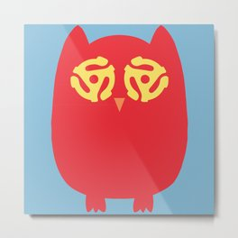 Owl 45s Metal Print