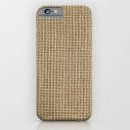 Natural Woven Beige Burlap Sack Cloth iPhone Case