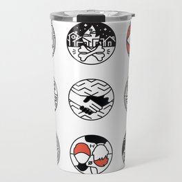 blurry icons Travel Mug