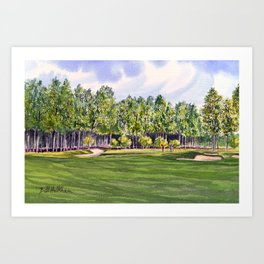 Pinehurst Golf Course No2 Hole 17 Art Print