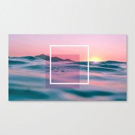 Purple And Pink Ocean Art Canvas Print