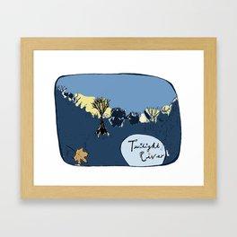 Twilight River Framed Art Print