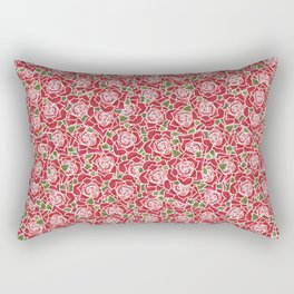 Romantic Red Roses Rectangular Pillow