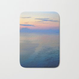 Abstract Sunrise Sailing Into Boston Bath Mat