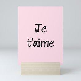 Je t'aime Pink Mini Art Print