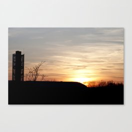 Sunset Silhouette 3 - View from the Mullins Center, Amherst, MA Canvas Print