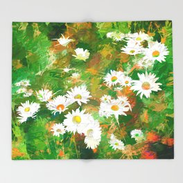 Daisies Throw Blanket