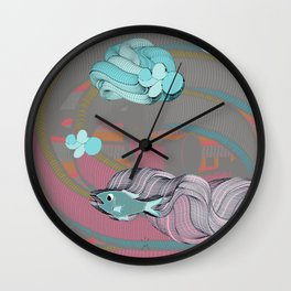 The eternal quest for happiness Wall Clock
