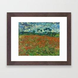 Vincent Van Gogh Poppy Field Framed Art Print