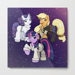 Star Ponies - Original Trilogy Metal Print